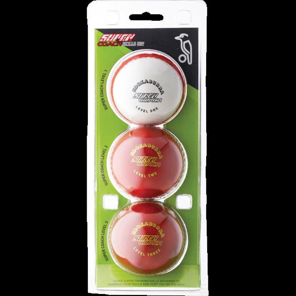 Kookaburra Super Coach Swing Demon Cricket Ball Red//White Junior